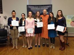 gandhi essay contest center for nonviolence peace 2014 gandhi winners