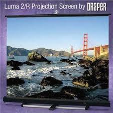 <b>Draper Luma 2</b>, <b>AV</b> Format Manual Wall or Ceiling Mounted ...