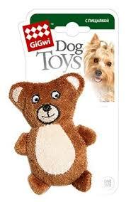<b>Игрушка</b> для собак <b>GiGwi Dog</b> Toys Мишка (75023) — купить по ...