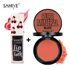 SANIYE Original <b>2pcs Makeup Set</b> Matte Lip Tint With Natural Blush ...