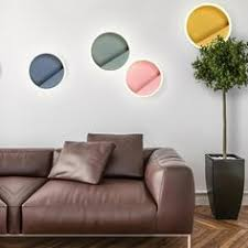 Macarone - Modern <b>Nordic</b> Round <b>LED</b> Wall <b>Lamp</b> in 2019 | Living ...