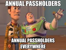 annual passholders annual passholders everywhere - Toy Story ... via Relatably.com