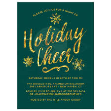corporate or business holiday party invitation designs golden holiday cheer corporate holiday party invitations