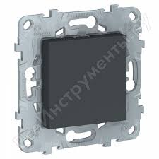 <b>Заглушка Schneider Electric</b> UNICA 45х45 антрацит NU586654 ...