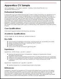 apprentice cv sample   curriculum vitae builderapprentice cv sample