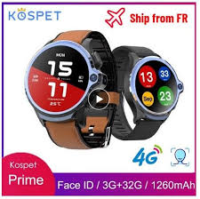 <b>KOSPET Prime</b> 4G Smart Watch 1.6 inch 1260mAh Battery <b>Face ID</b> ...