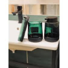 <b>Дозатор для жидкого</b> мыла Bonn Silicon цвет зелёный/чёрный в ...