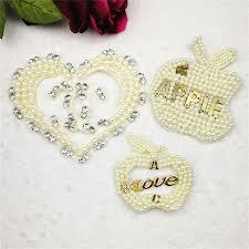 China <b>New Fashion</b> Handmade Heart Patches Pearl Beaded ...