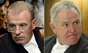 Gerrie Nel, left, and Barry Roux. Photograph: AFP/Getty Images - Gerrie-Nel-and-Barry-Roux-008