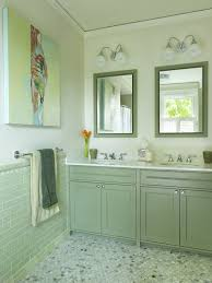 bathroom tiles green