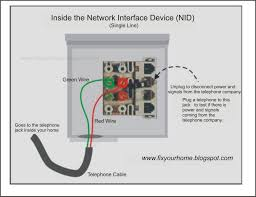 telephone network interface device box wiring diagram  fix your    telephone network interface device box wiring diagram