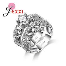 <b>New Arrival</b> Women Engagement 925 Sterling Silver Rings Clear ...