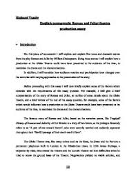 romeo and juliet theatre production essay   gcse english   marked  page  zoom in