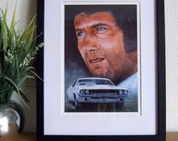 Vanishing Point, Kowalski, 1970 Dodge Challenger painting, framed A4 print. Vanishing Point, Kowalski, 1970 Dodge Challenger painting, framed A4 print. - il_340x270.613779841_mrwk