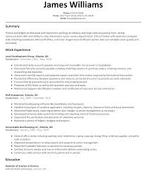 bookkeeper resume sample com