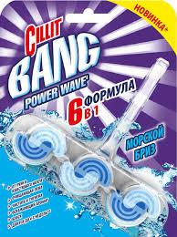 <b>Туалетный блок</b> «Морской бриз» Power Waves <b>Cillit</b> Bang, 39 г ...