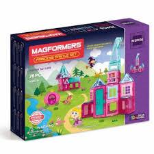 <b>Магнитный конструктор MAGFORMERS Princess</b> castle 78P Set ...