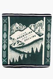 <b>The Mountains Are Calling</b> Fleece Throw | United By Blue