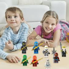 <b>8PCS</b> Ninja Figurine Dolls Wooden <b>Block</b> Assembled <b>Blocks</b> For ...