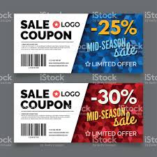 coupon voucher template vector graphic design stock vector 1 credit