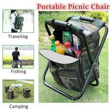 <b>Outdoor</b> Folding Camping Fishing Chair Stool <b>Portable Backpack</b> ...