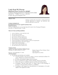 resume format for volunteer nurses cv sample job application resume format for volunteer nurses actprofileorg registered nurse resume sample in the nurse resume in