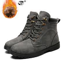 <b>Winter Men Boots</b> Short Plush 2018 <b>Shoes Men PU Snow Boots</b> ...