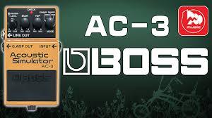<b>BOSS</b> AC-3 - <b>педаль</b> эмуляции звучания акустической гитары ...