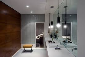 recessed lights above the vanity as an additional light source bathroom effervescent contemporary bathroom vanity lighting