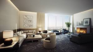 beige corner sofa with square coffe table feat grey leather sofa on classic pattern carpet beautiful living room pillar