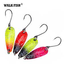 Walk <b>Fish 4Pcs Lot</b> 2.8cm 2.5g Metal Spinner Spoon <b>Fishing Lure</b>