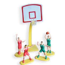 <b>Basketball Team Cake Topper</b> 4 Players and Hoop - Walmart.com
