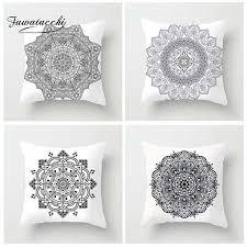 <b>Fuwatacchi</b> Multi <b>Color</b> Mandala Printed Cushion Cover <b>Colorful</b> ...