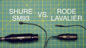 Shure SM93 Vs <b>Rode</b> Lavalier - YouTube