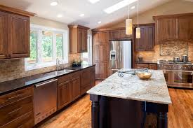 kitchen cabinets with granite countertops: white granite countertops with dark cabinets