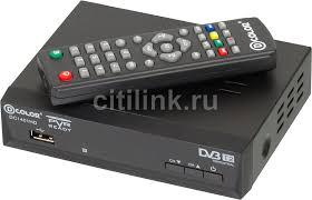Купить Ресивер <b>DVB</b>-<b>T2 D</b>-<b>COLOR DC1401HD</b>, черный в ...