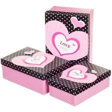 <b>Набор подарочных коробок 3</b> шт. Любовь 0657J /pink, цена 125 ...