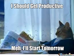 Being Productive by recyclebin - Meme Center via Relatably.com