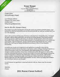Examples Of Cover Letters For Nurses  cover letter for a nursing