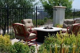 charming frontgate outdoor furniture design with sofa and white table near the fence charming outdoor furniture design