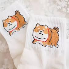 Korean <b>Style</b> Fat <b>Shiba Inu Pattern</b> Socks Puppy Cute Stupid Fat ...