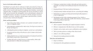 job description for health care sample of health care job doctor job description