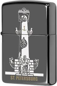 150 Rostral Column <b>Зажигалка Zippo Ростральная</b> колонна, Black ...