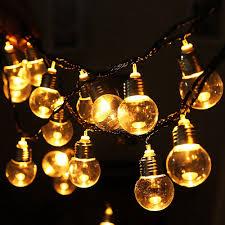 <b>6M 20LED</b> Bulb Shape String Fairy Light Warm White <b>Christmas</b> ...