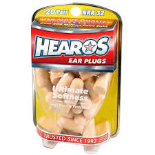 Hearos <b>Ultimate Softness Ear Plugs</b> (NRR 32) (20 Pairs) – Earjobs