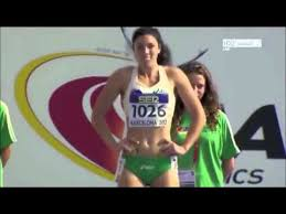 Michelle Jenneke dancing in Barcelona 2012 hurdles slow motion ... via Relatably.com