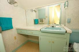 mid century aqua bathroom bathroom mid century