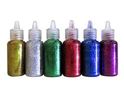 Amazon.com: Bazic Products 6 Color Glitter Glue Set <b>20ml Bottles</b> ...