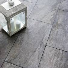 Gray Tile Kitchen Floor Indus Dark Grey Stone Effect Porcelain Wall Floor Tile Pack Of