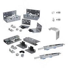 PS10 <b>Комплект роликов</b> и <b>доводчиков</b> на 2 двери толщиной до ...